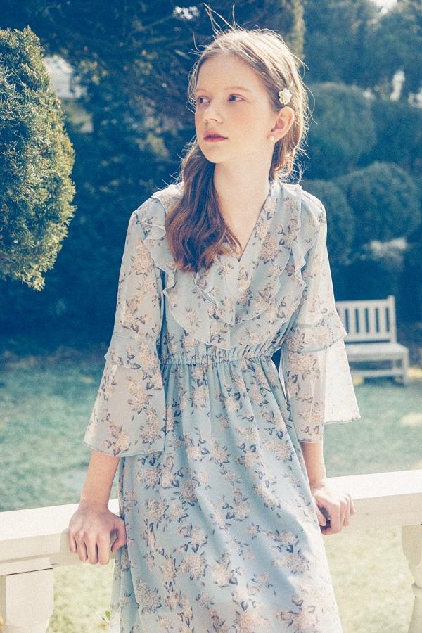 Wind Flower Dress_Mint Sky