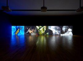박경근, 청계천 메들리, 2010, 5채널 비디오, 컬러, 사운드, 각 21분 35초